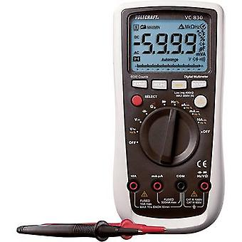 Handhållen multimeter digitalt VOLTCRAFT VC830 CAT III 1000 V, CAT IV 600 V Display (antal): 6000