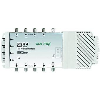 Axing SPU 58-05 SAT multiswitch ingressi (multiswitch): 5 (4 SAT/1 terrestre) No. di partecipanti: 8 Quad LNB compatibile
