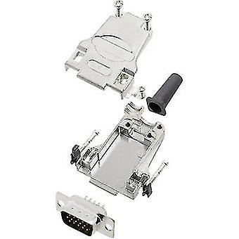 encitech DTZF09-HDP15-K D-SUB pin strip set 180 ° Number of pins: 15 Solder bucket 1 Set