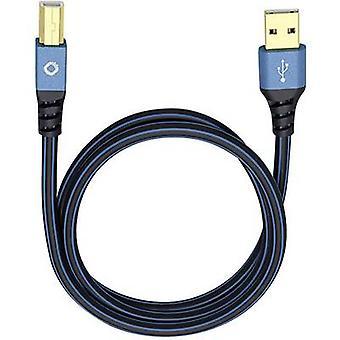 USB 2.0 Cable de Oehlbach [1 x conector USB 2.0 A - 1 x conector USB 2.0 B] 5 m azul conectores enchapados oro