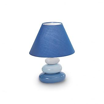 Ideal Lux Blue Pebble Style Bedside Lamp