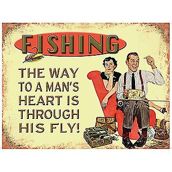 Fishing The Way To A Man'S Heart Is Through His Fly Funny Fridge Magnet