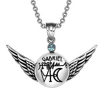 Magic Powers Archangel Gabriel Sigil Angel Wings Amulet Pendant Necklace