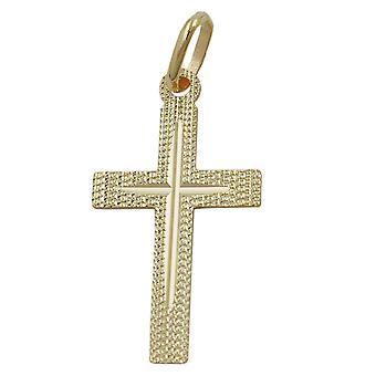 375 cross pendant gold diamond cross pendant, cross, 9 KT GOLD