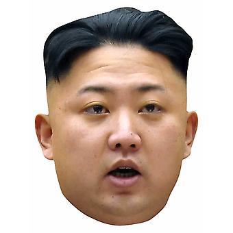 Kim Jong-un 2D enkelt kort Party ansigtsmaske