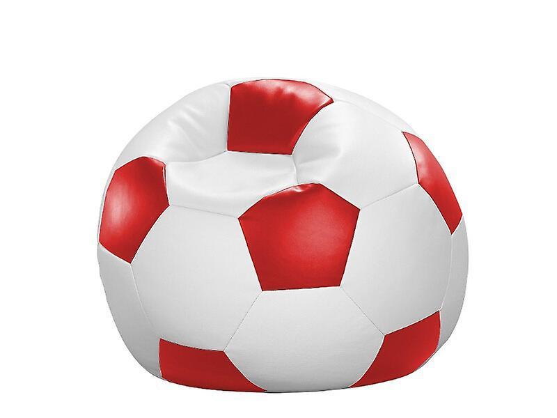 90 Cm Rot Sitzkissen Kunstleder Sitzsack X weiß Fussball Tl13ucKJF