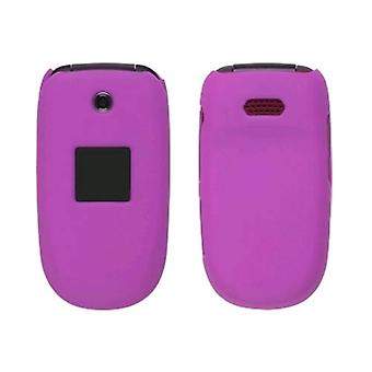 Soft Touch Snap-On Case for Samsung R330 Stride - Hot Pink