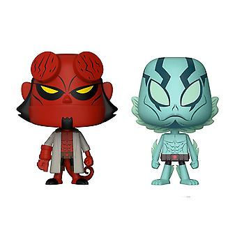 Hellboy Vynl character set Hellyboy & Abe Sapien multicolor plastic, Funko, in gift box.