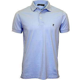 French Connection Classic Jersey Polo Shirt, Cashmere Blue