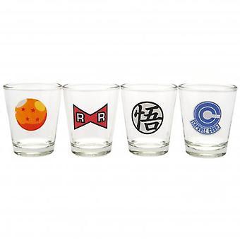 Dragon Ball Z 4pk Shot Glass Set