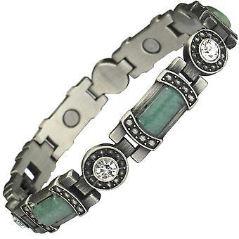 MPS® KARINN Jade ädelstenar magnetiska armband + gratis storleksändring verktyg