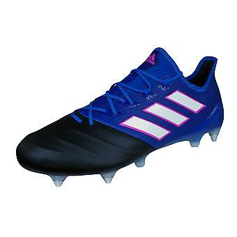Adidas Ace 17.1 lederen SG Mens zachte grond voetbalschoenen - Blue and Black