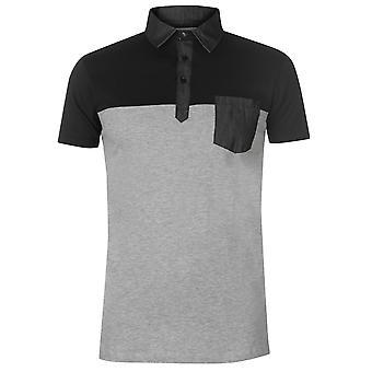 Pierre Cardin Herren Farbe Block Polo-Shirt Classic Fit Top Kurzarm T-Shirt