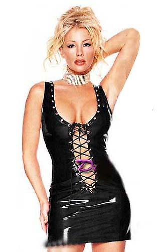 Waooh 69 - Mini Dress Style Black Vinyl