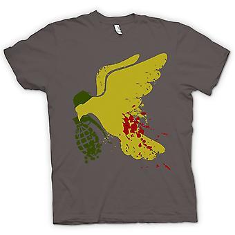Kvinner t-skjorte - fred ikke krig Dove Grenade - morsomt