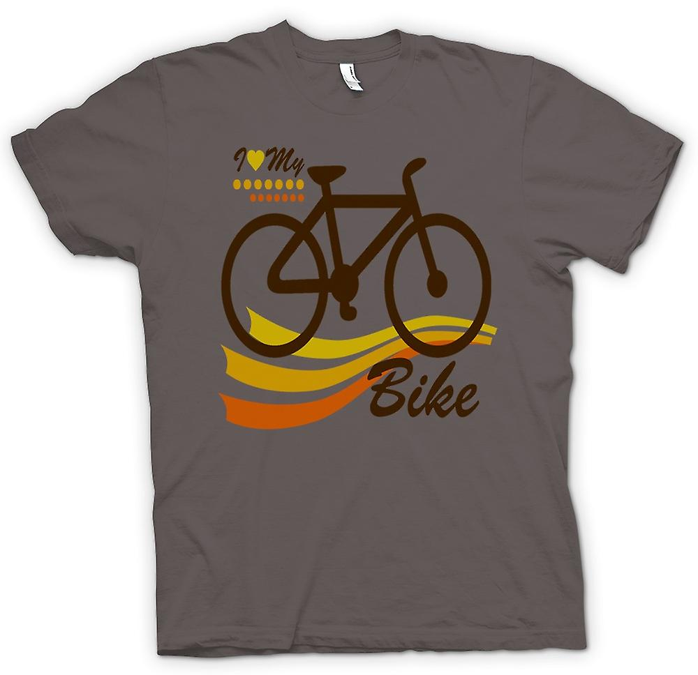 Mens T-shirt - I Love My Bike - Funny
