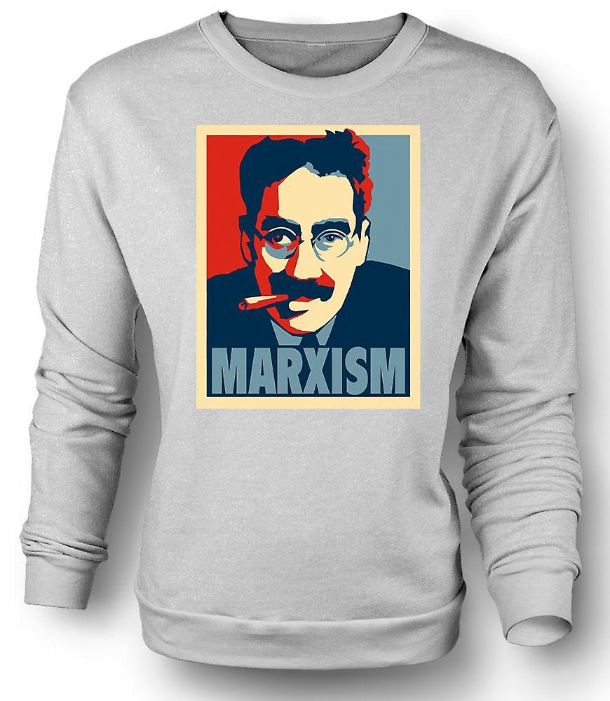 Mens Sweatshirt Marxism Groucho Marx - Communism