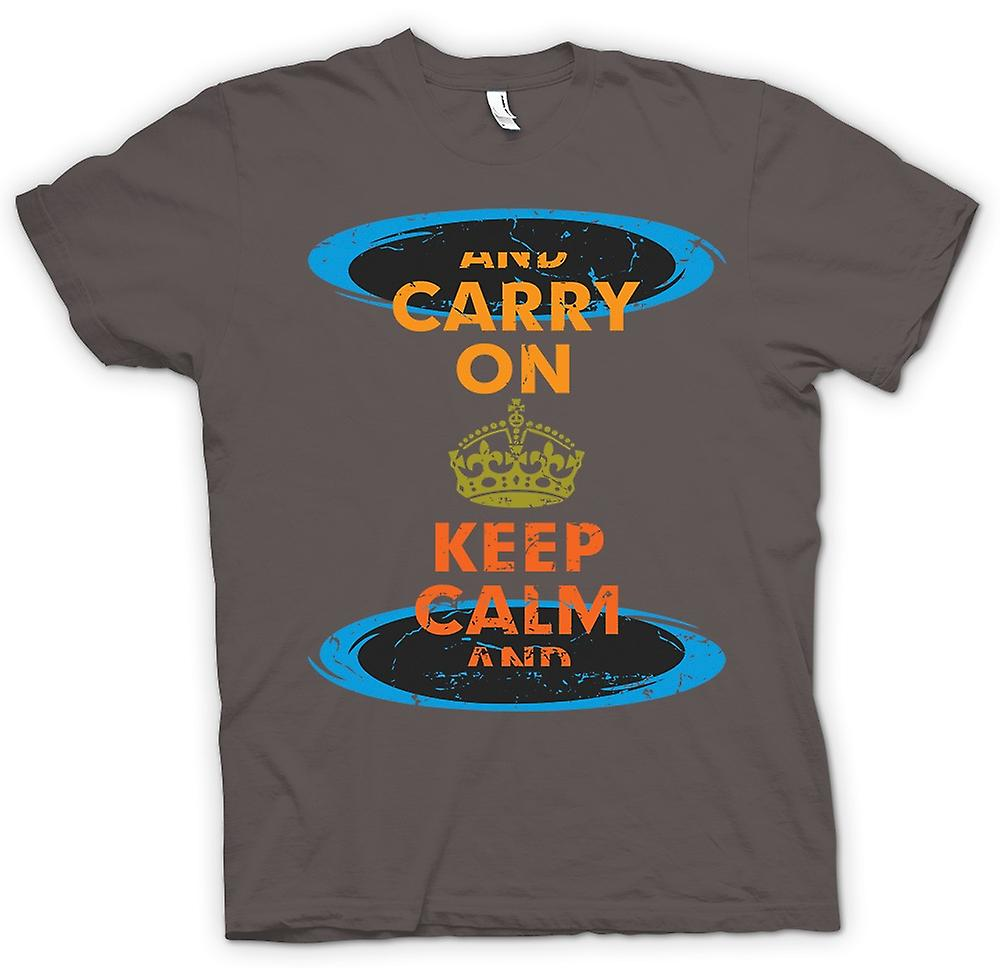 Womens T-shirt - Keep Calm And Carry On - Funny