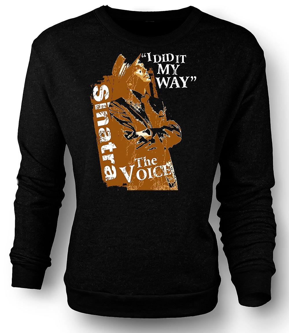 Mens Sweatshirt Frank Sinatra My Way - The Voice