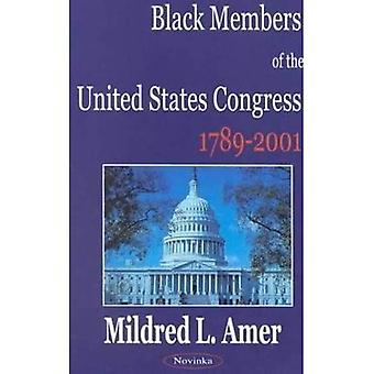 Black Members of the United States Congress, 1789-2001