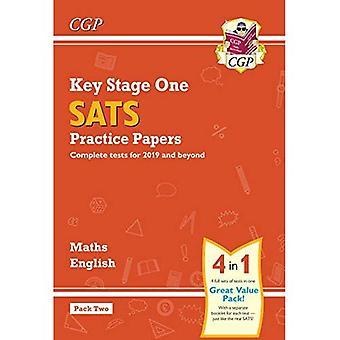 Nouveau KS1 Maths et anglais SATS pratique Papers Pack (pour les essais de 2019) - Pack 2