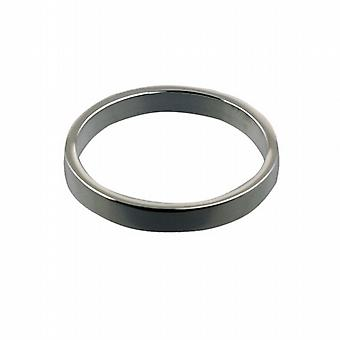 Platinum 3mm plain flat Wedding Ring Size Z