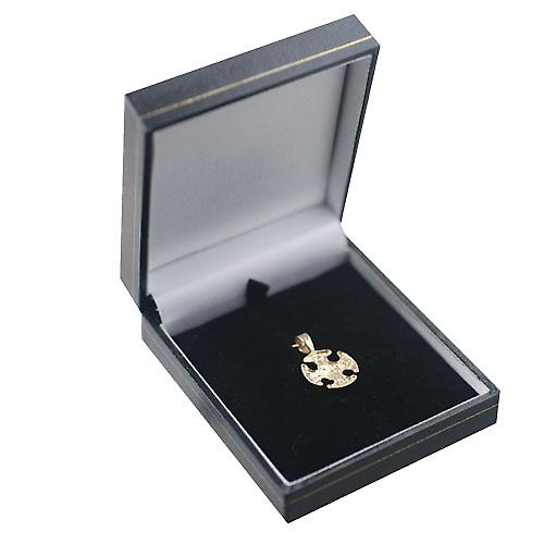 9ct guld 16mm Fancy Cross