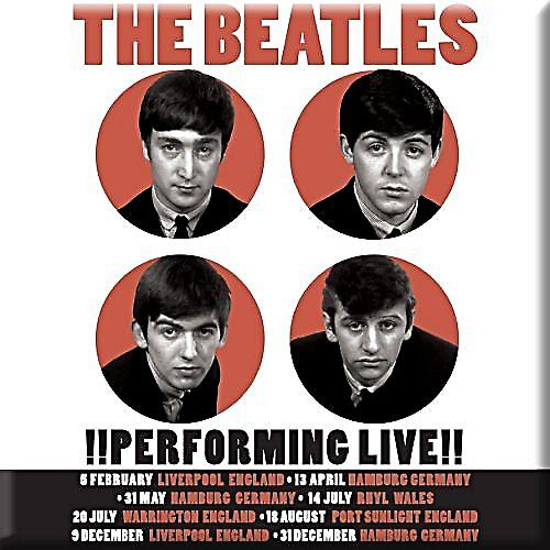 Beatles Performing Live (1962) fridge magnet  (ro)