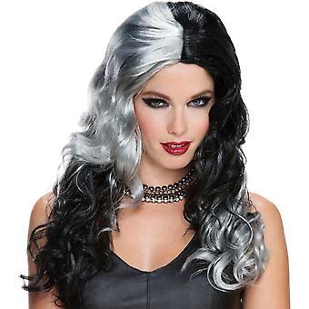 Wicked Witch Wig Grey Black