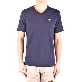 Aeronautica Militare blauer Baumwolle T-shirt