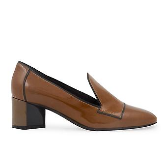 Pierre Hardy Belle Brown Leather Loafers