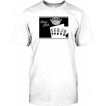 Royal Flush - Perfect Poker Hand Mens T Shirt