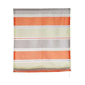 my home curtain semi-transparent Roman shade with colored horizontal stripes coloured