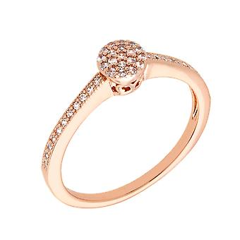 Bertha Sophia Collection Women's 18k RG Plated Stackable Pave Fashion Ring Size 6