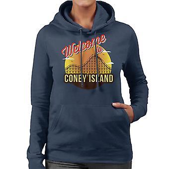 Velkommen til Coney Island Retro kvinner er hette Sweatshirt