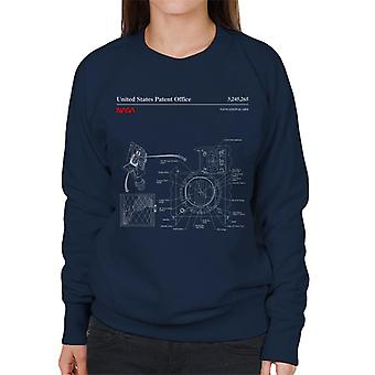 NASA Navigationshilfen Blueprint Damen Sweatshirt