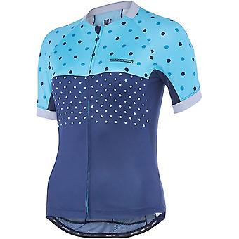 Madison Blue Curaco-Ink Navy Hex Dots 2018 Sportive Apex Womens Short Sleeved Cy