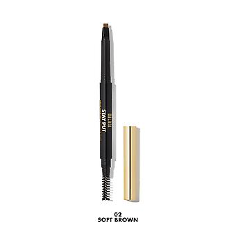 Milani Stay Put Brow Sculpting Mechanical Pencil-02 Soft Brown