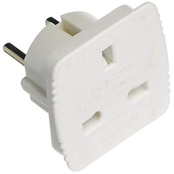 Value Range Travel Adaptor UK to Europe Carded-Pack of 20 (Modell Nr. UKTOEU)