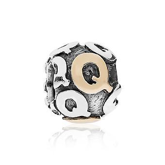 Pandora lettera Q argento & 14k oro Charm 790298Q