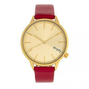 Simplify The 6700 Series Watch - Red/Gold