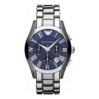 Emporio Armani Ar1635 Valente Silver & Blue Classic Uhr