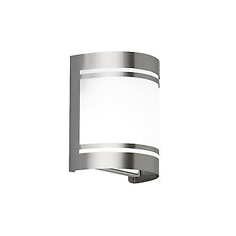 Wofi Havre - 1 Light Outdoor Wall Light Brushed Stainless Steel - 4044.01.97.7000