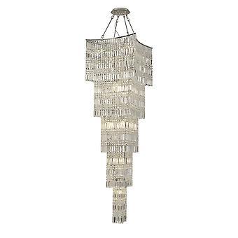 Diyas Gianni Tall Pendant 15 Light Polished Chrome/Crystal