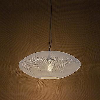 QAZQA Oriental Round Pendant Lamp 60cm Blanc avec cuivre - Radiance