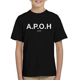 A.P.O.H Classic White Logo Kid's T-Shirt
