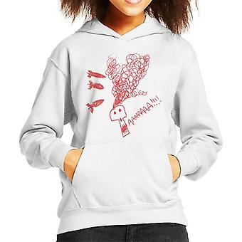 Zits rot Aaaaah Schädel Doodle Kid's Kapuzen Sweatshirt