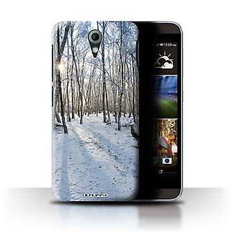 STUFF4 Case/Cover voor HTC Desire 820 Mini/Snowy Forest/winterseizoen