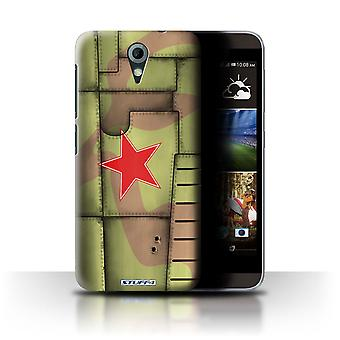 STUFF4 Case/Cover for HTC Desire 820 Mini/Soviet/Green/Airplane Fighter Wing