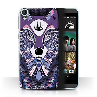 STUFF4 Case/Cover for HTC Desire 820s Dual/Wolf-Purple/Aztec Animal